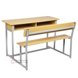 Middle School Wooden School Furniture Bancadas duplas (SF-21D)