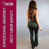 Mujer de la manera pantalones casuales traje pantalón Conjunto (L28060-1)