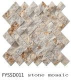 Teja de materiales de construcción irregular de la pared de mármol del mosaico (FYSSD011)