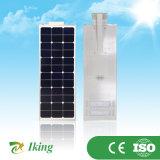 리튬 철 건전지를 가진 1개의 통합 태양 LED 가로등에서 최고 가격 질에 의하여 보장되는 40W 전부