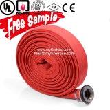 Boyau flexible de l'eau d'arroseuse d'incendie de coton de toile de 1 pouce