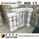 Personalizar a pedra de mármore branca de Guangxi para Balusters baixos dos trilhos