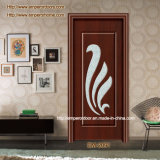 PVC Wooden Wrought Iron Interior Door für Schlafzimmer