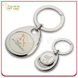 Keyring suave personalizado del metal del sostenedor de la moneda de la carretilla de las compras del esmalte