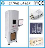 UV поверхность наушников и коробок гравировки машины маркировки лазера