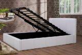 現代家具の革黒の空気の記憶のベッド