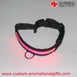 개 고양이를 위한 조정가능한 폴리에스테 반영 LED 연약한 애완 동물 고리