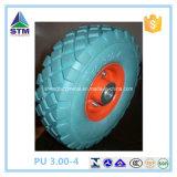 Rodas enchidas do trole do caminhão pesado da roda do pneumático do plutônio do poliuretano espuma de borracha contínua