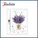 최신 판매 - 아트지 라벤더 꽃 쇼핑 선물 종이 봉지