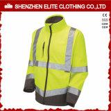 Gli uomini lavorano l'alto rivestimento del Workwear di Softshell di visibilità