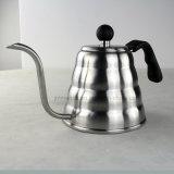 Verser au-dessus de la bouilloire d'égouttement de café, bac de thé d'acier inoxydable