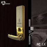 Fechamento seguro do punho de porta do cilindro eletrônico da liga do zinco
