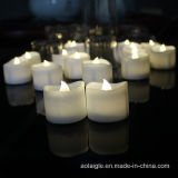 Wellenförmige Kerze der Form Tealight Batterie-LED mit Timer-Funktion