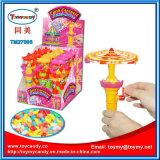 Juguete del carrusel del juguete de destello plástico de Faviate mini con el caramelo