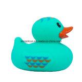 Pato verde del baño DIY del bebé a nadar