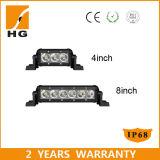 4.3 '' CREE LED barato 9W Negro de una hilera de luces LED