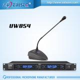 Microfone da luz do estágio da reunião KTV da conferência da canaleta da freqüência ultraelevada 4 do profissional