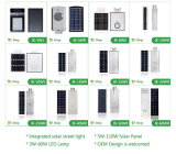8W réverbère solaire du boîtier en aluminium DEL 120lm/W
