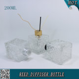 200ml rimuovono la bottiglia di vetro del diffusore a lamella quadrato per l'imballaggio cosmetico di fragranza dell'aroma