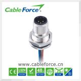 M12 3 Pin CNC 나사를 가진 센서를 위한 여성 똑바른 정면 걸린 위원회 마운트 연결관
