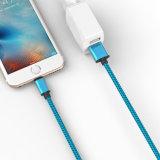 cable trenzado del USB del nilón del 1m el 1.5m los 2m para el androide, iPhone