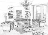 De moderne In het groot Banken van Chesterfield van de Hotels van het Leer van het Meubilair Echte