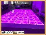 DMX RGB 댄스 플로워 1*1m 위원회 춤 춤 음성 통제 단계 빛 당 디스코 DJ는 LED 효력을 때린다