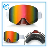 Máscara ultravioleta de la nieve del equipo del esquí del impacto anti con el protector de nariz