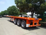 De 3 eixos do recipiente reboque Flatbed Semi