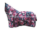 wasserdichter Unterhalt-warme rosafarbene Pferden-Wolldecken des Winter-600d