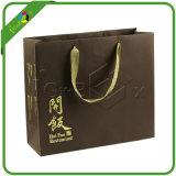 Sac de transporteur de papier de luxe estampé par coutume personnalisé de cadeau