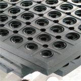Rundes Loch-Gummifußboden-Matte/Hochleistungsentwässerung-Öl-Widerstand