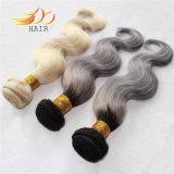 100%のベトナム人のRemyの毛2の調子のOmbreカラー薄い色の毛の編むこと