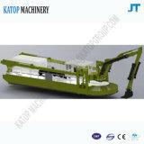 Dragueur multifonctionnel multifonctionnel d'étang de barge de travail