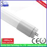 Alto 100lm/W tubo brillante de la cubierta de cristal el 1.2m T8 18W LED