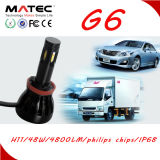 Fabrik Matec 4 seitliche Chips hoher Lumin LED Scheinwerfer H7 H4 des Scheinwerfer-12V 24V 8000lm LED