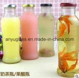 Bouteilles en verre de jus de verre à bouteilles de boisson avec le couvercle
