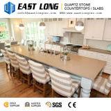 Surface douce durable de pierre de quartz pour des partie supérieure du comptoir de cuisine
