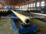 Машинное оборудование одно или 2 штрангя-прессовани трубы кожуха HDPE пластичное - шаг