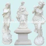 Figura occidentale moderna statua, sculture di arte intagliate marmo bianco di angelo
