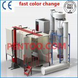 Schnelles Color Change Powder Booth mit Big Cyclone Recovery System