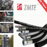 Boyau flexible de Bubber Wir de tresse hydraulique industrielle d'En853 2st