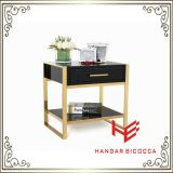 커피용 탁자 (RS161601) 옆 테이블 침대 대 스테인리스 가구 홈 가구 호텔 가구 현대 가구 테이블 콘솔 테이블 탁자 구석 테이블