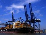 Cargadoor van China aan Belawan Djakarta Semarang Indonesië