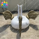 Finego PVC水公園の膨脹可能な空気Pegasusの金白鳥のフラミンゴのプールの浮遊物