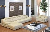 Ecksofa, Schnittsofa, legt Sofa, ein Seater mit dem zwei Arm-ledernen Sofa hin (610)