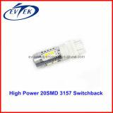 bulbos 3157, 7443, 1157 del poder más elevado LED de 700lm 2835 SMD