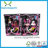 Cadre de empaquetage de poupée de fantaisie faite sur commande avec le guichet clair de PVC