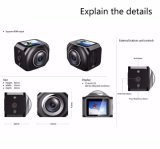 Vr360 WiFiのスポーツのカメラの小型Kamera 4k水中遠隔Controlllerの処置のカメラ