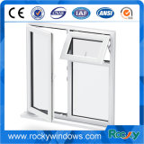 Portes en aluminium de profil d'ouverture d'oscillation et double guichet en verre de tissu pour rideaux de PVC Windows